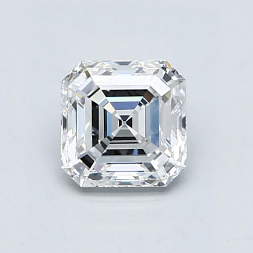 1.01 carat Asscher Diamond, Very Good cut, graded by the GIA laboratories.