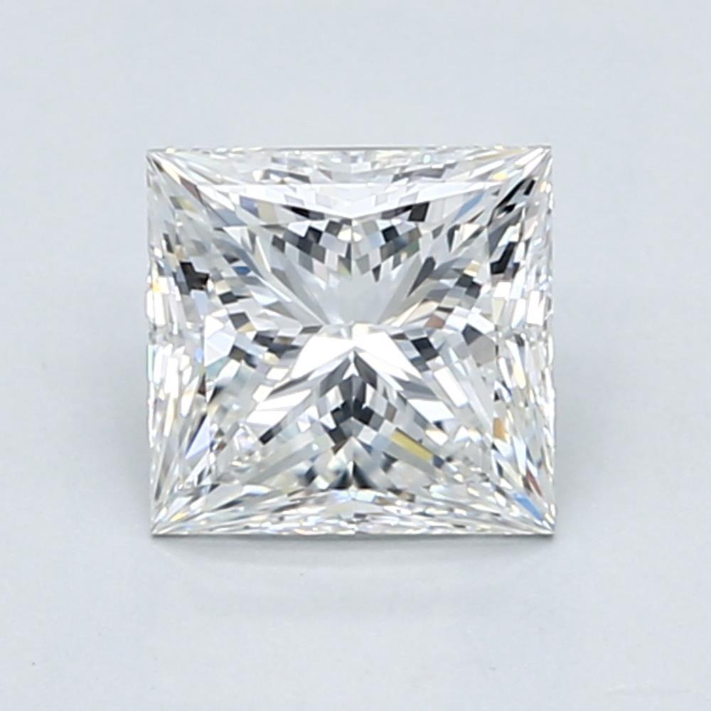 1.51 carat Princess Diamond, Very Good cut, graded by the GIA laboratories.