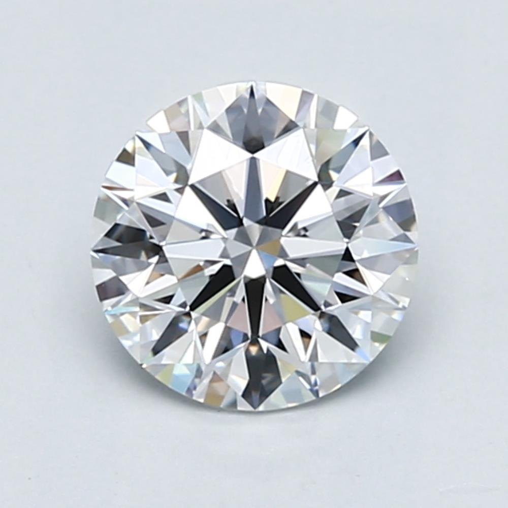 1.42 carat Round Diamond, Ideal cut, graded by the GIA laboratories.