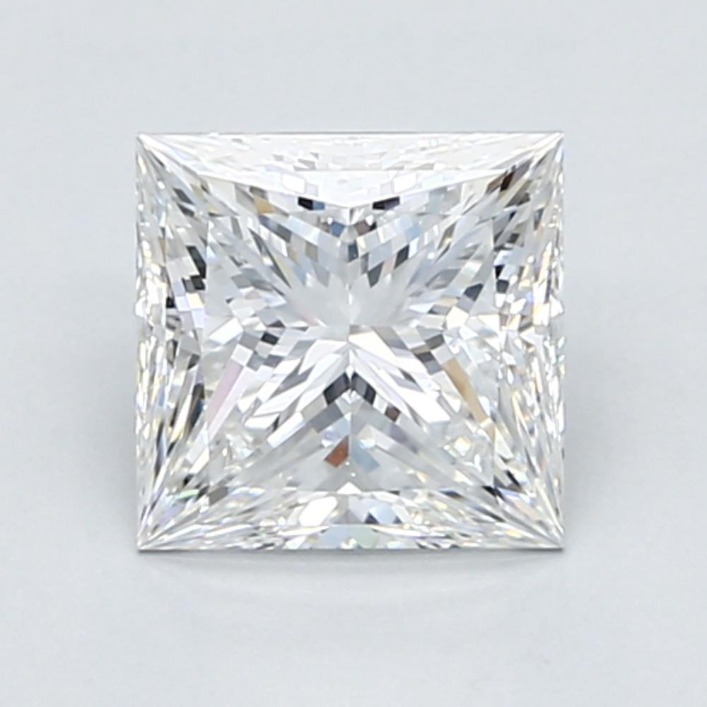 1.75 carat Princess Diamond, Very Good cut, graded by the GIA laboratories.