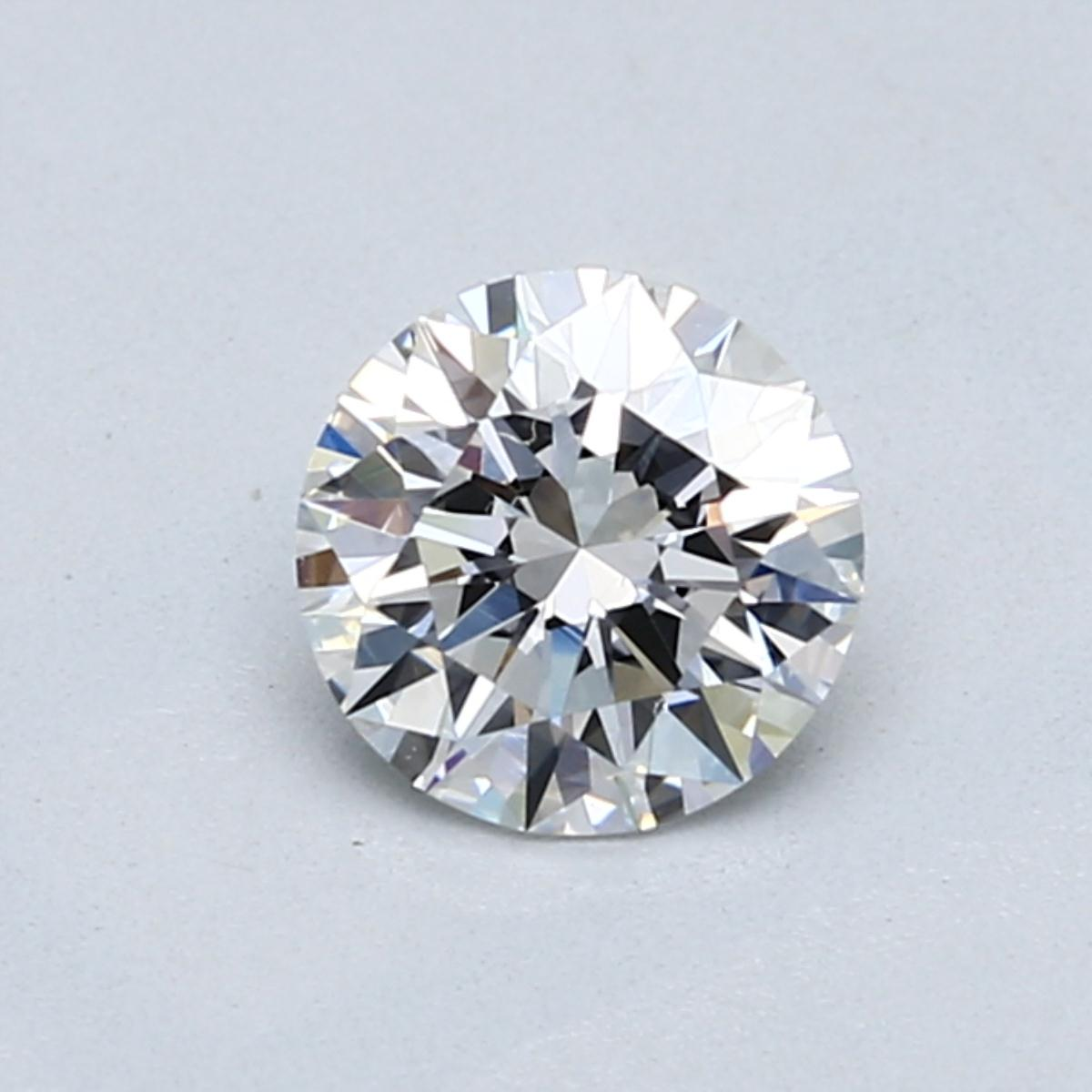 1.01 carat Round Diamond, Ideal cut, graded by the GIA laboratories.