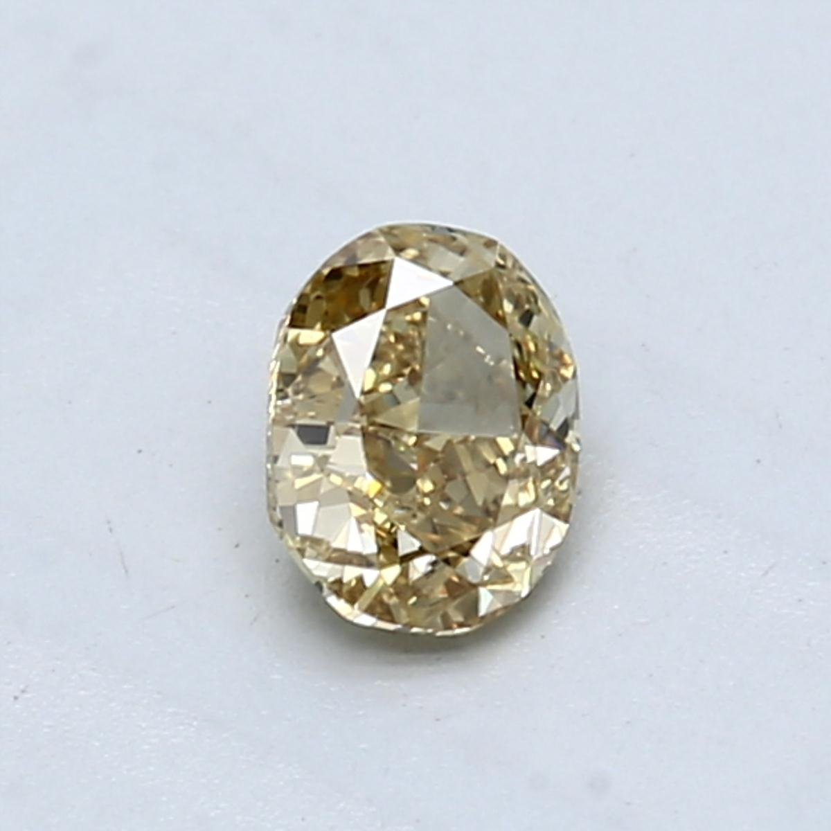 0.54-Carat Brownish Greenish Yellow Oval Diamond by Blue Nile