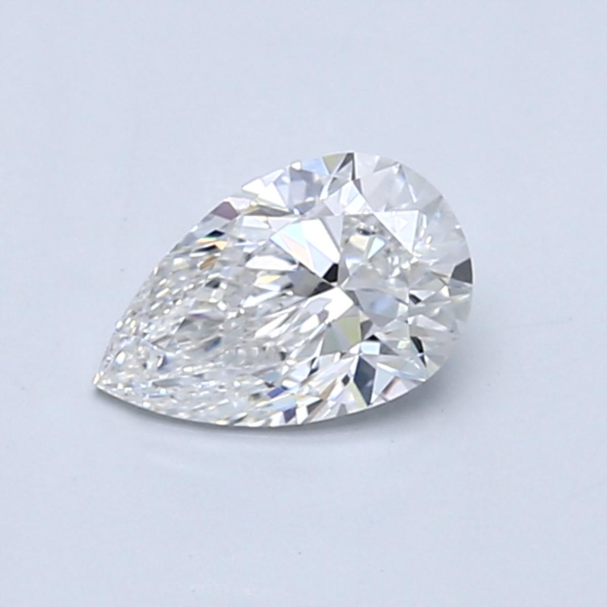 .60 carat Pear Diamond, Very Good cut, graded by the GIA laboratories.
