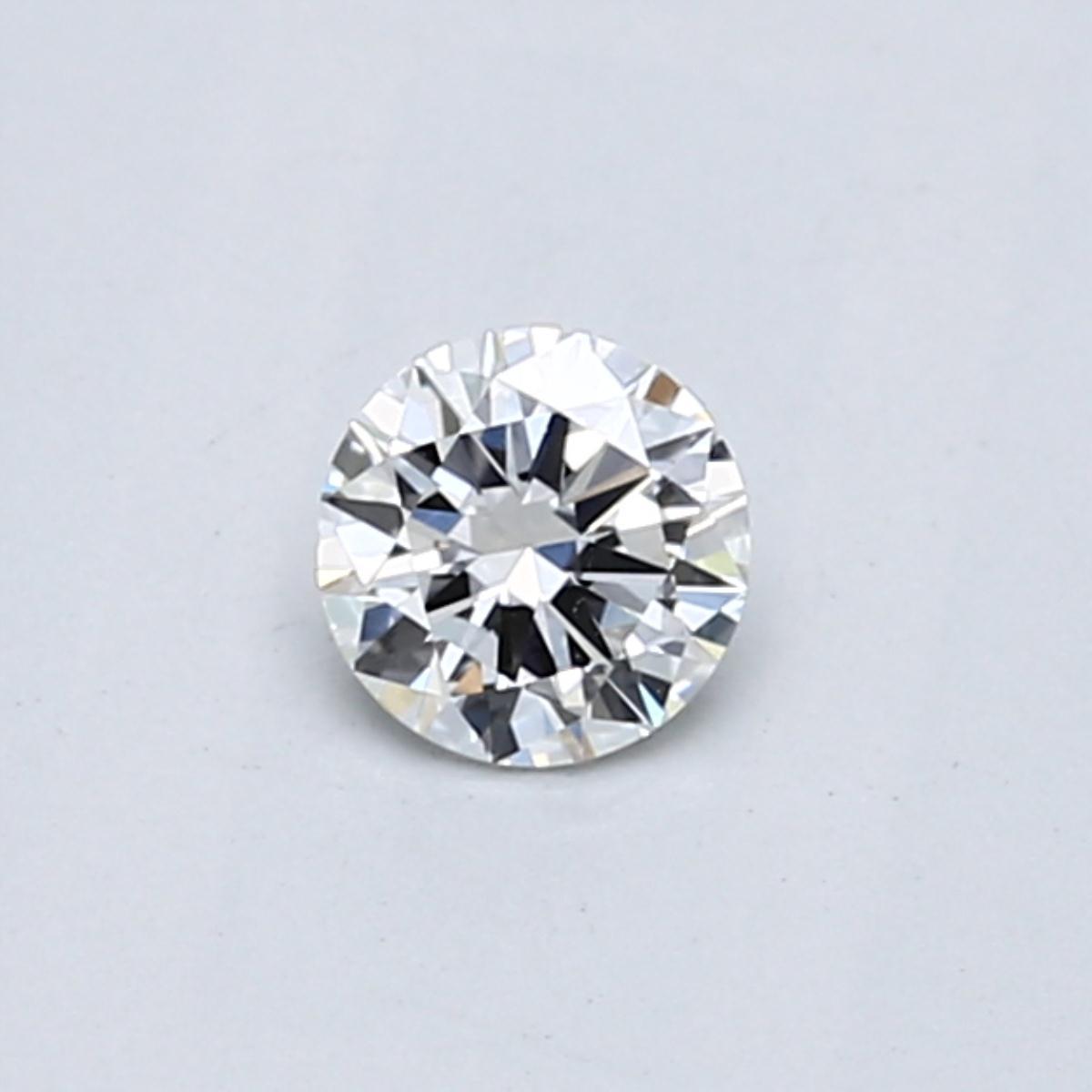 .30 carat Round Diamond, Very Good cut, graded by the GIA laboratories.