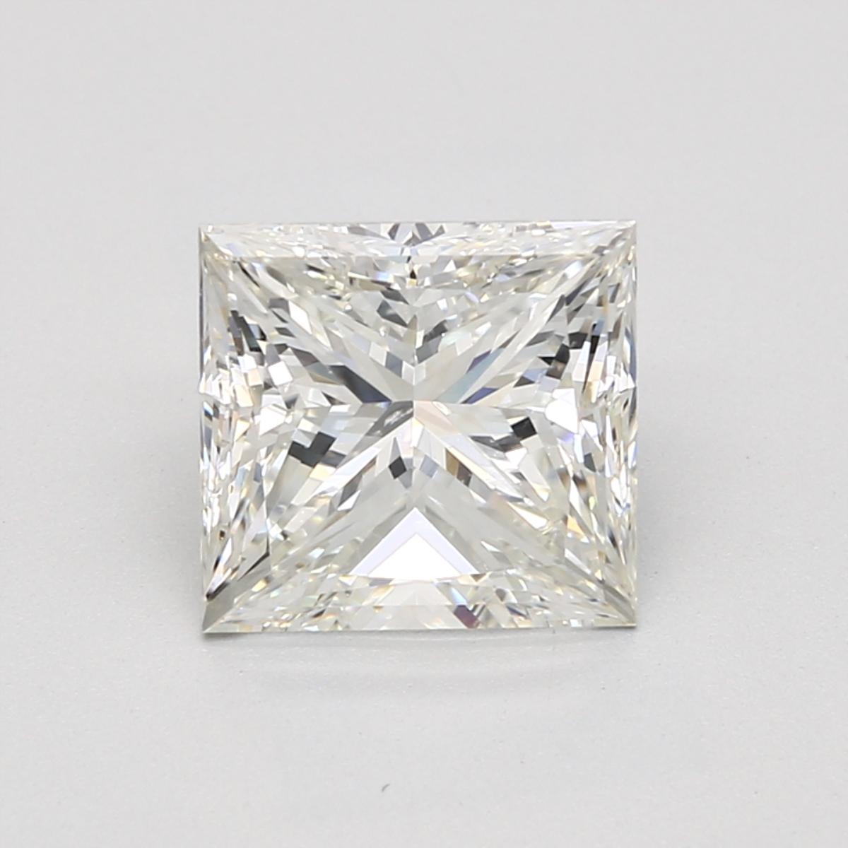 3.38 carat Princess Diamond, Very Good cut, graded by the GIA laboratories.