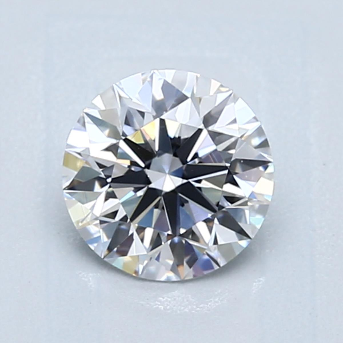 1.11 carat Round Diamond, Ideal cut, graded by the GIA laboratories.