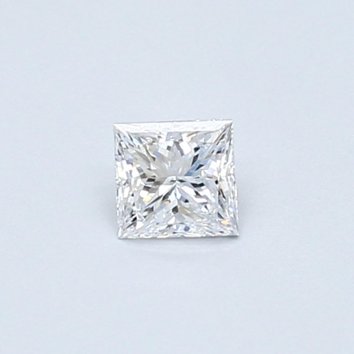 .30 carat Princess Diamond, Very Good cut, graded by the GIA laboratories.