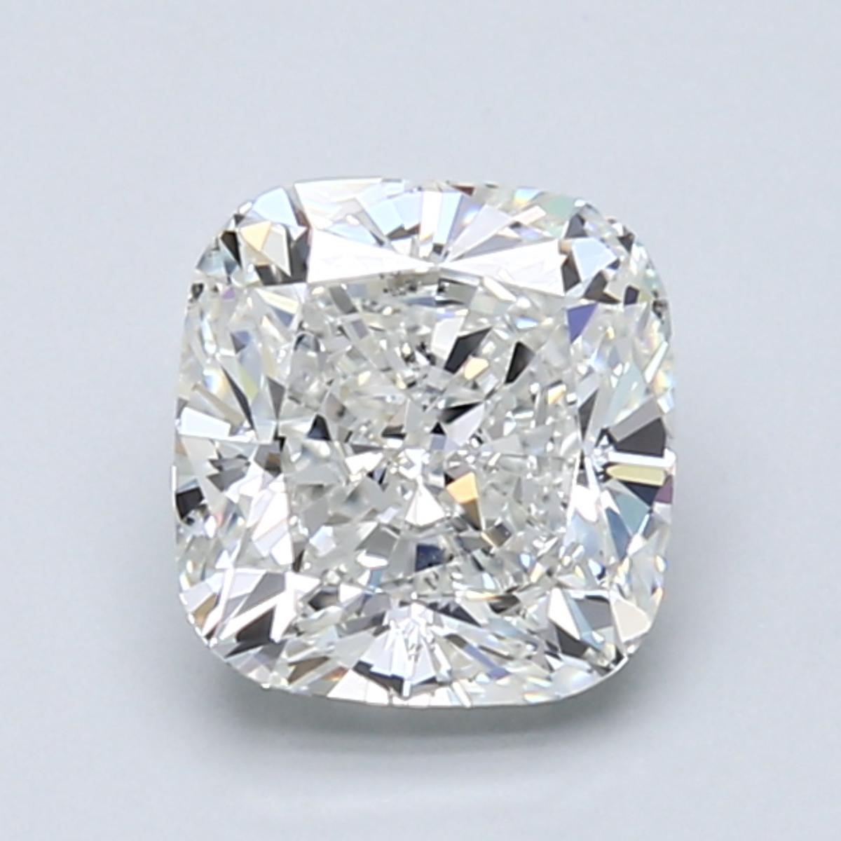 1.71 carat Cushion Diamond, Very Good cut, graded by the GIA laboratories.