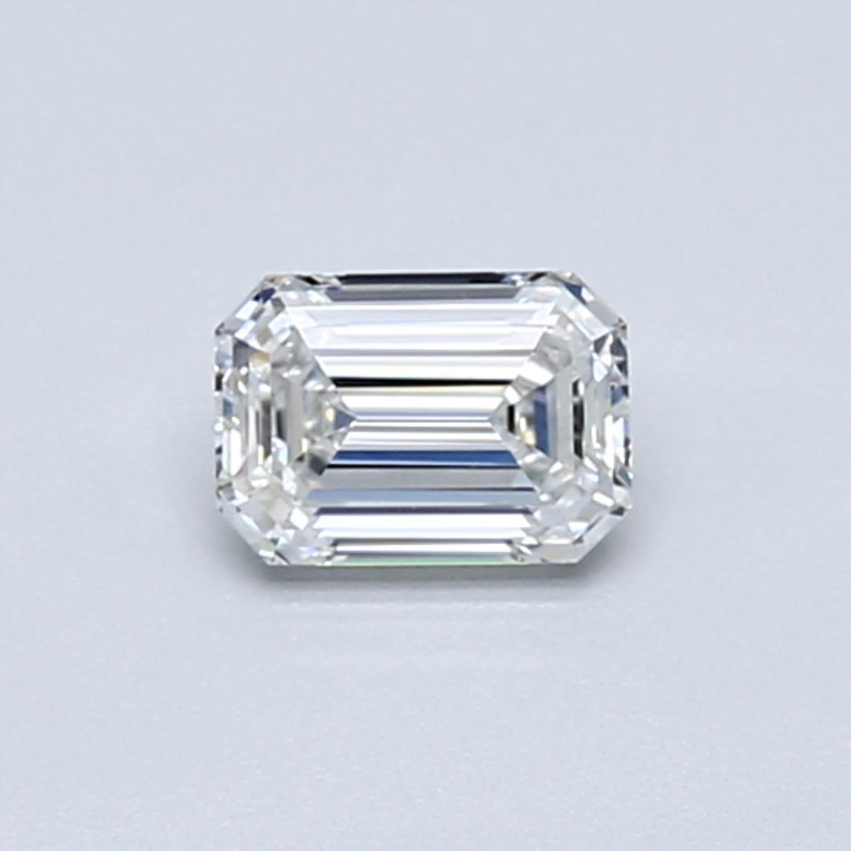 .45 carat Emerald Diamond, Very Good cut, graded by the GIA laboratories.