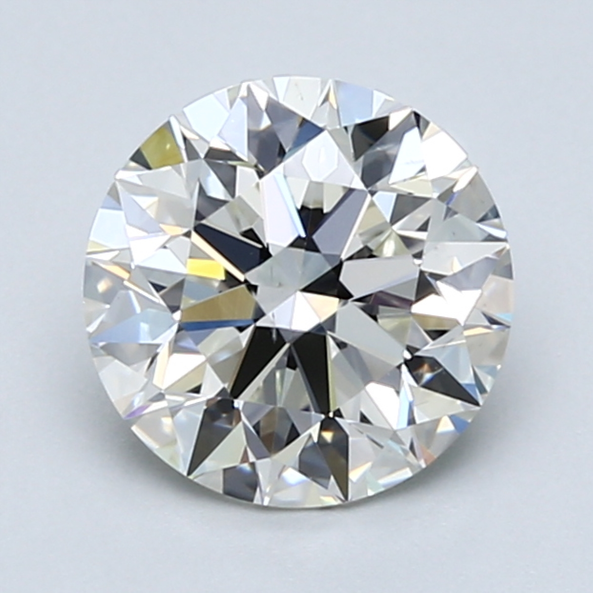 1.90 carat Round Diamond, Ideal cut, graded by the GIA laboratories.