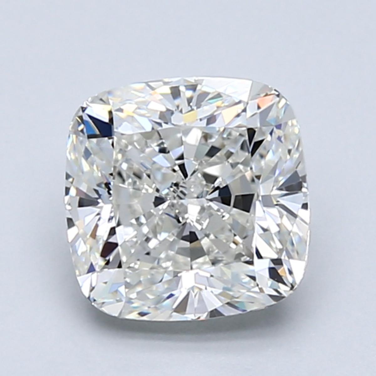 2.01 carat Cushion Diamond, Very Good cut, graded by the GIA laboratories.