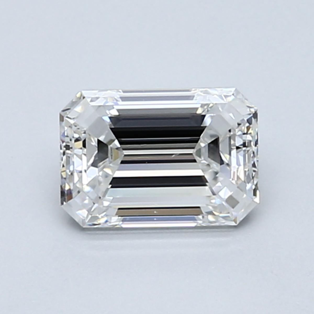 1.01 carat Emerald Diamond, Very Good cut, graded by the GIA laboratories.