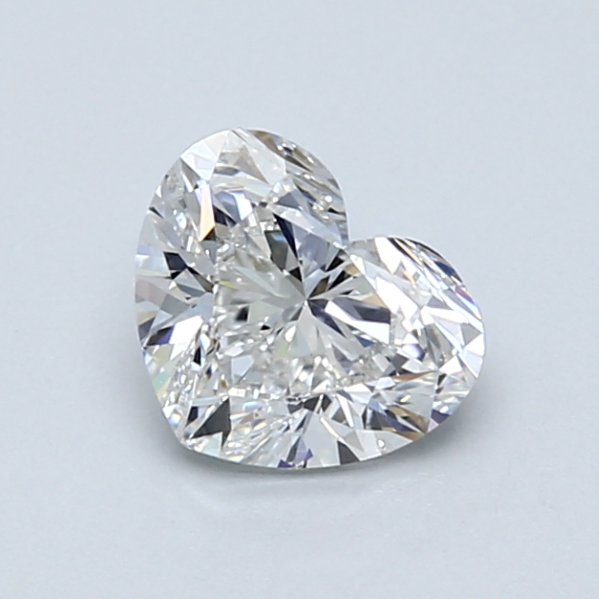 1.01 carat Heart Diamond, Very Good cut, graded by the GIA laboratories.