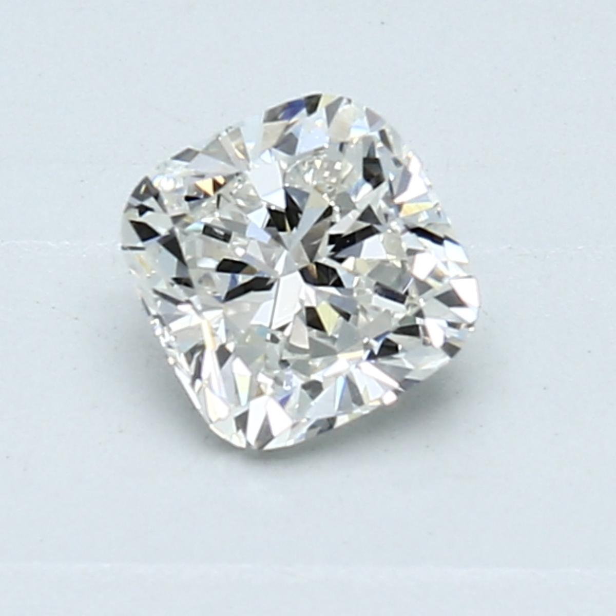 0.72-Carat Natural Ideally Cut Cushion Diamond