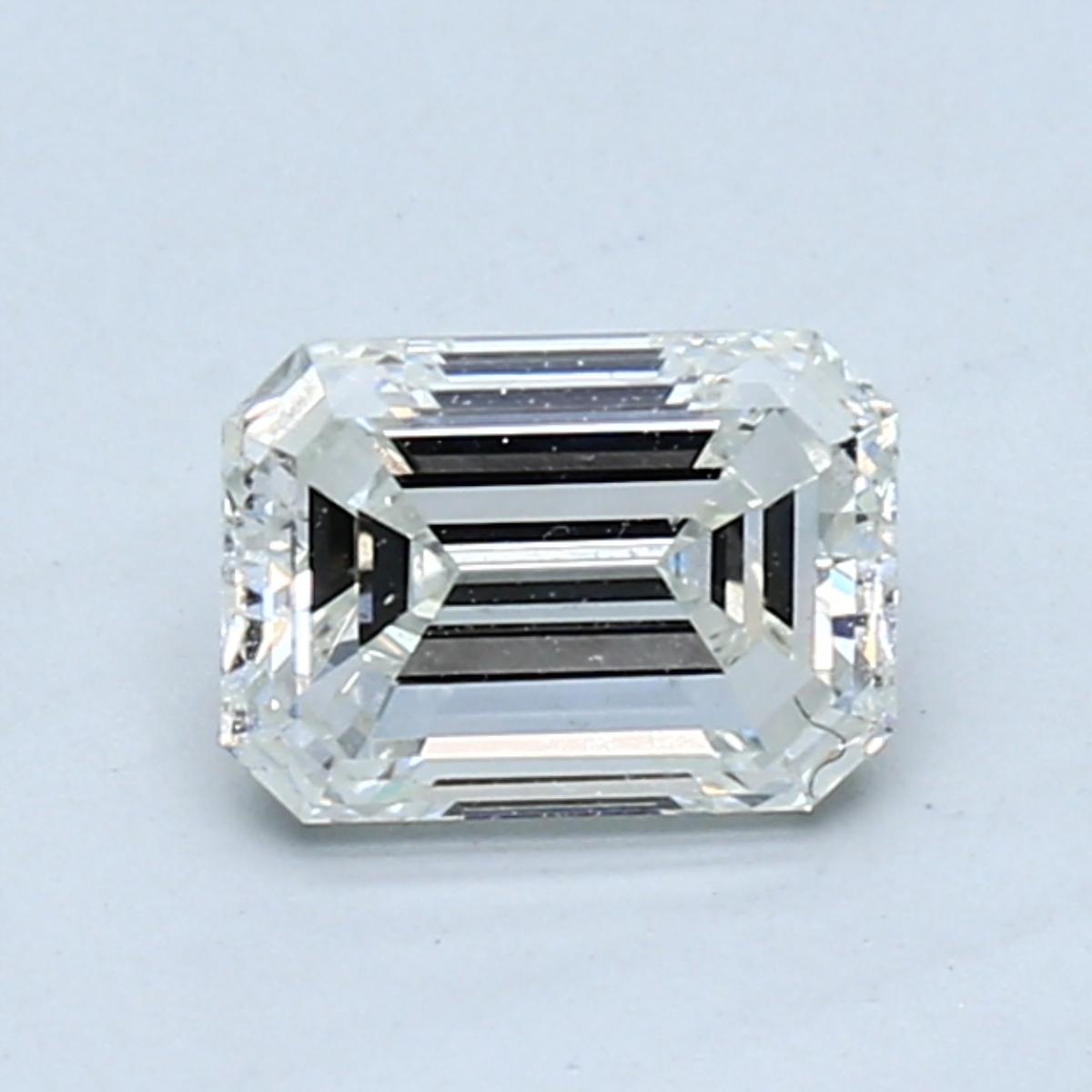 1.00 carat Emerald Diamond, Very Good cut, graded by the GIA laboratories.