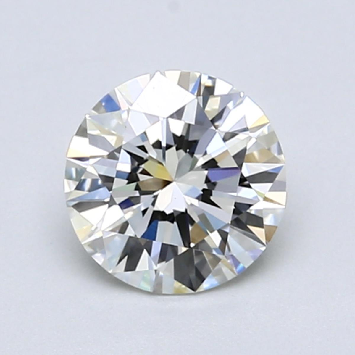1.07 carat Round Diamond, Ideal cut, graded by the GIA laboratories.