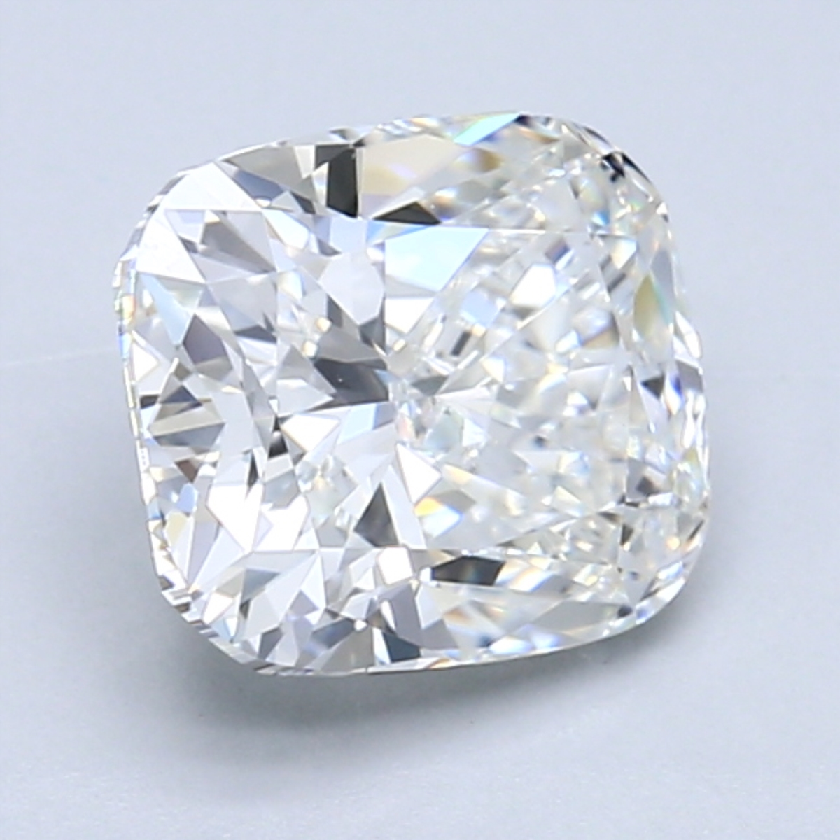 2.50 carat Cushion Diamond, Very Good cut, graded by the GIA laboratories.