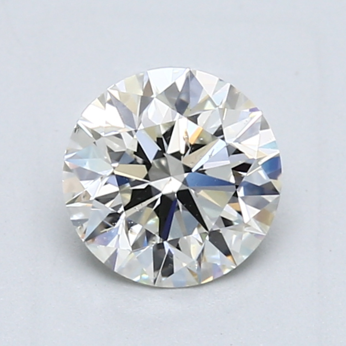 1.23 carat Round Diamond, Ideal cut, graded by the GIA laboratories.