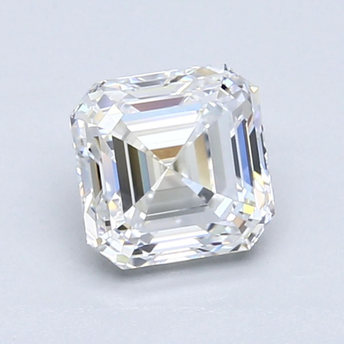 1.30 carat Asscher Diamond, Very Good cut, graded by the GIA laboratories.