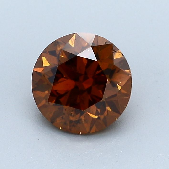 1.20-Carat Deep Brownish Orange Round Diamond