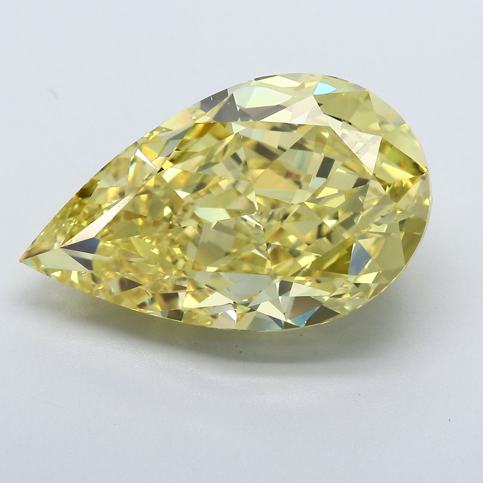 13.04-Carat Vivid Yellow Pear Shaped Diamond by Blue Nile