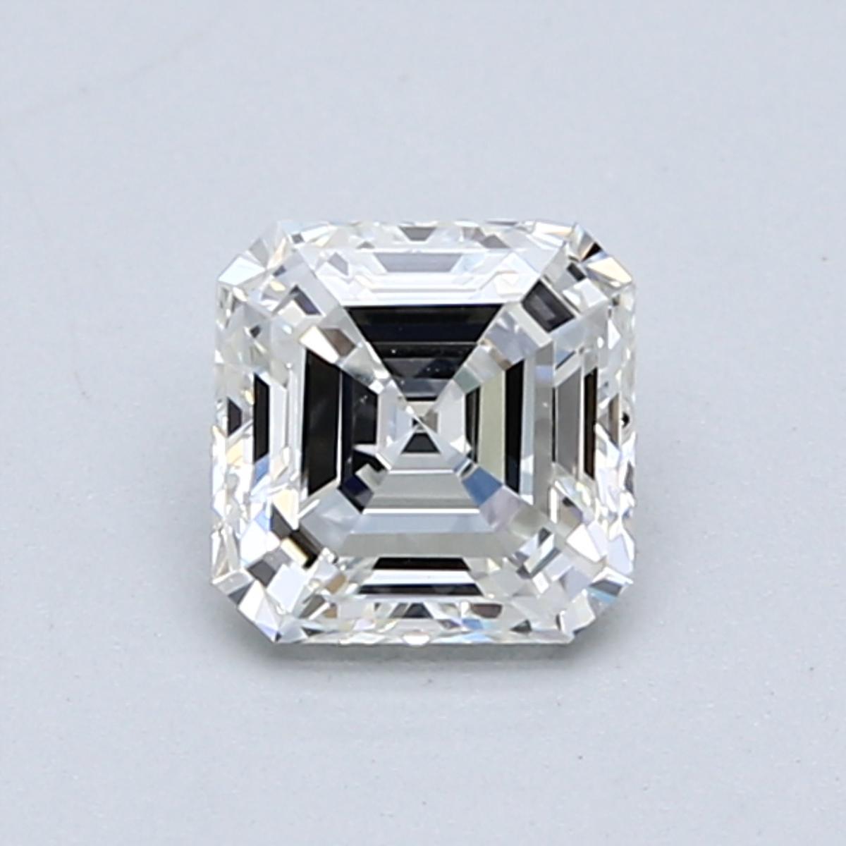 .75 carat Asscher Diamond, Very Good cut, graded by the GIA laboratories.