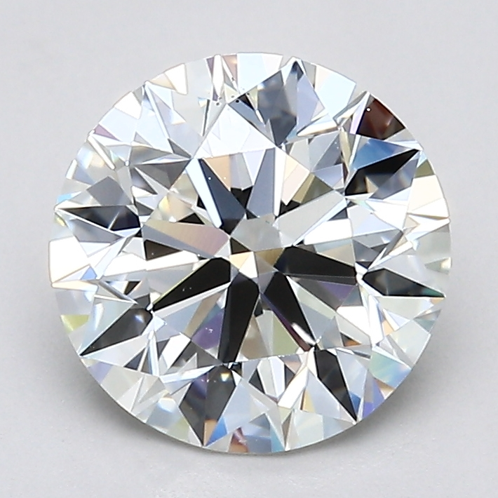 Round 2.01 Carat G Color VS2 Clarity For Sale